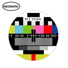13*13cm 3D No Signal TV Television car sticker auto