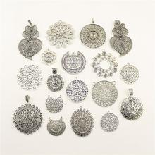 Charms For Jewelry Making Sri Yantra Pattern Mandala Pattern  Accessories Parts Creative Handmade Birthday Gifts цены онлайн