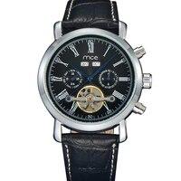 MCE New Leather Watch Men Original&Luxury Top Brand,Perpetual Calendar Men's Watch Mechanical Tourbillon Power Reserve relogio,