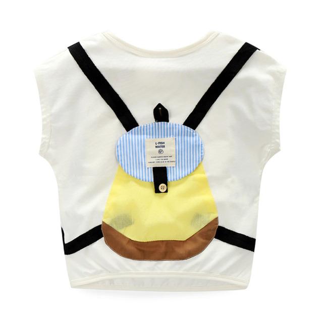 T-shirt Menino Sólida Saco Menino T-shirt Sem Mangas Verão O-pescoço Camiseta Baby Boy Casual Roupa Dos Miúdos Meninos 2553Z