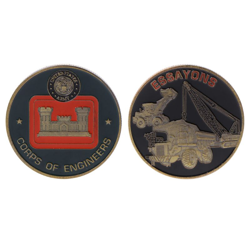Army Engineer Commemorative Coin Alloy Crafts Travel Classic Gift Festival Souvenir Coin Collection
