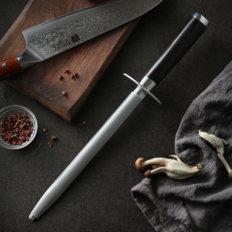 Image 2 - XINZUO Knife Sharpener Rod Kitchen Accessorie High Carbon  Stainless Steel Sharpener Stick Knife Grinder Rosewood or Ebony  HandleSharpeners