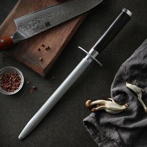 Image 2 - XINZUO Knife Sharpener Rod Kitchen Accessorie High Carbon Stainless Steel Sharpener Stick Knife Grinder Rosewood or Ebony Handle