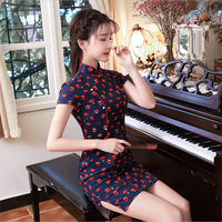 Modified chinese dress Short Cheongsam Retro Traditional women cheong sam modern Qipao Sexy ladies ancient china clothes