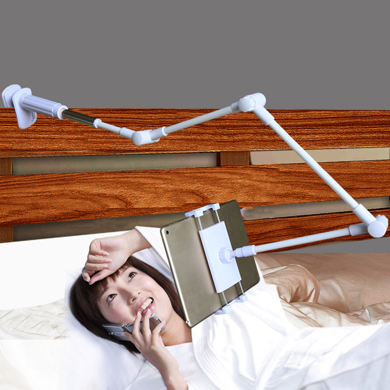 Folding Lengthy Arm Pill Cellphone Stand Holder For Ipad Samsung Kindle 4-14 Inch 360 Rotation Robust Lazy Mattress Pill Mount Bracket