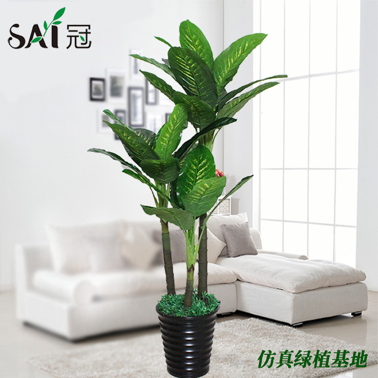 Piso de interior decoraci n rbol falso simulaci n shuqing for Plantas decorativas para interiores