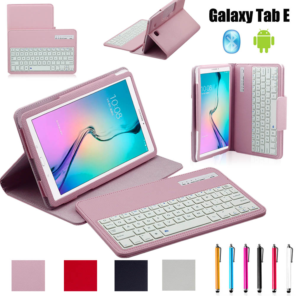 2 in 1 Removable Wireless Bluetooth Keyboard Case For Samsung Galaxy Tab E T560 T561 9.6 inch Tablet PC Cover Skin Shell Funda