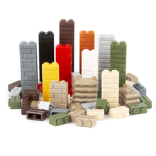150PCS MOC City House Building Blocks Military Castle Wall Accessories Christmas Parts Assembles Profile Bricks Toys
