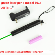 Best price AIFENG pen pointer beam powerful  battery 3 in 1 green burn Eu us UK charger 100MW tactical green dot laser flashlight combo