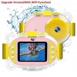 Image 1 - Profesyonel çocuk kamera dijital Wifi SLR Mini kamera noktası dalış Dual Lens 8MP 2.4 inç Full HD darbeye dayanıklı erkek kız kamera