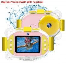 كاميرا رقمية احترافية للأطفال مزودة بخاصية Wifi SLR كاميرا فيديو صغيرة مزودة بنقاط غطس بعدسات مزدوجة 8 ميجابكسل 2.4 بوصة فائقة الدقة كاميرا للصبيان والبنات مقاومة للصدمات