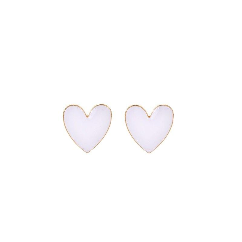 Модное ожерелье с подвеской для глаз для женщин, ожерелье с кристаллами, сексуальные персонализированные чокеры, короткая цепочка на ключицы, ювелирные изделия - Окраска металла: heart stud white