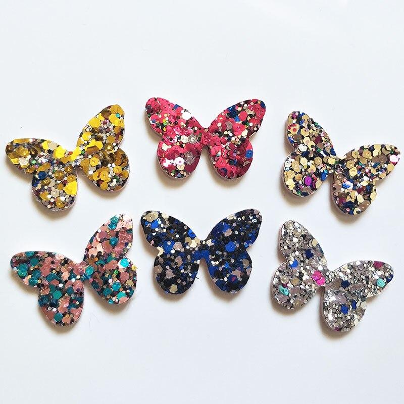 60 шт. 4×2,8 см блестящие аппликации с бабочкой для одежды Швейные принадлежности «сделай сам» украшение для волос бант, аксессуары для волос-in Пластыри from Дом и сад on Aliexpress.com | Alibaba Group