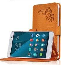 Ocube Casos Impresión De Patrón de La Cubierta En Folio Con el Soporte de LA PU Flor Cubierta de cuero Para Huawei Honor X1 Mediapad X1 7.0 Tablet