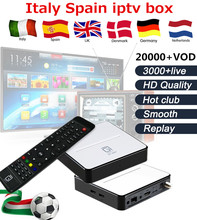 Spain IPTV GT2017 Android Smart TV Box DVB-S2 Satellite Receiver 2G RAM 8G ROM with Arabic French Spain Italy TV&VOD(China)