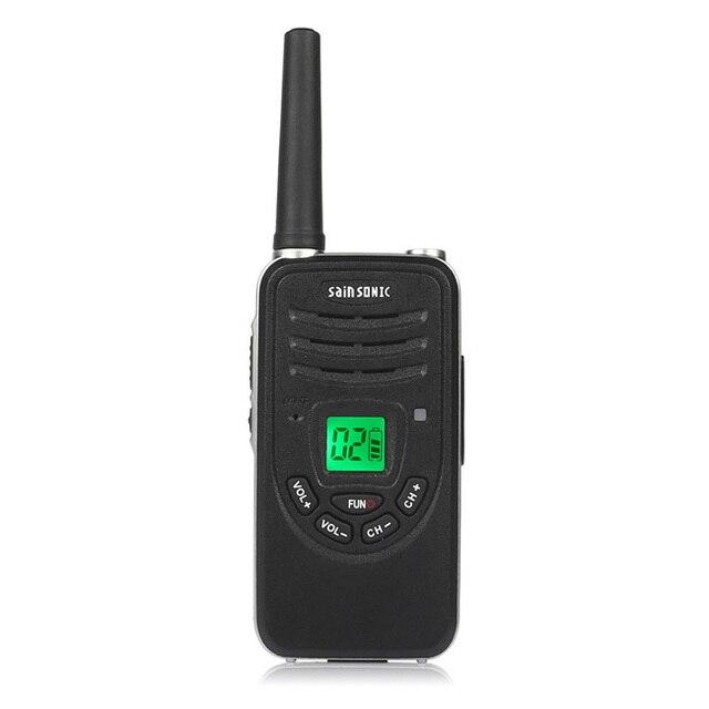 SainSonic RST567 Two Way Ham Radio, UHF 400-480 MHz Portable Handheld FM 99CH Mini Walkie Talkie