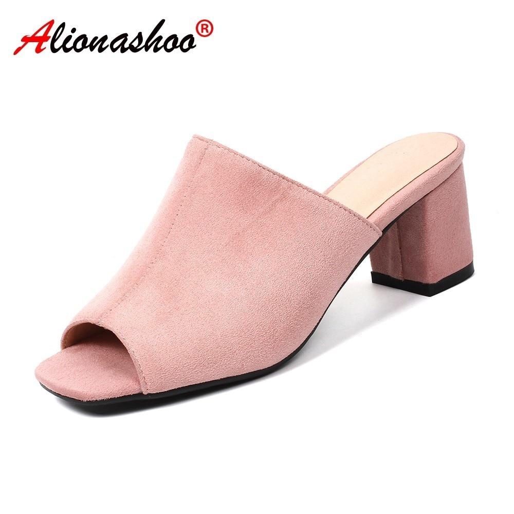 34 Verano Peep Toe Calzado Fuera Chanclas Talla Mujeres Cómodos Mujer Gota Envío Zapatos Zapatillas 44 Casual Grande YfyvIb6g7