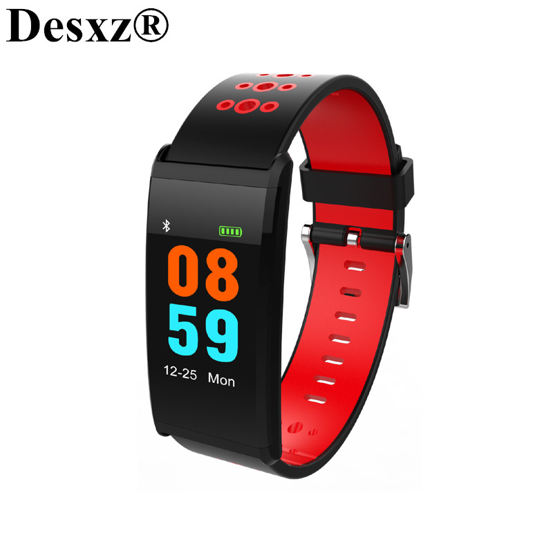 Desxz Wristband 0.96 Inch Blood Pressure Fitness Heart Rate Tracker Heart Rate Smart Band Watch for Running Walk Waterproof IP68
