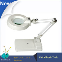 5X,10X,20X LT 86C 3 Points Adjustable Table Type Magnifier Lamp,Long arm lights On/Off plastic magnifier loupe with led light