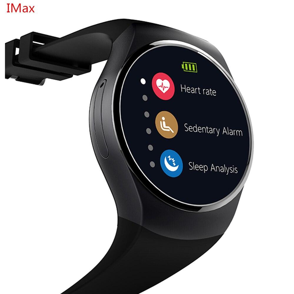 imágenes para Smartch KW18 Reloj Inteligente SIM TF MTK2502 Heart Rate Monitor de Pantalla Táctil bluetooth Reloj Smartwatch para apple IOS android