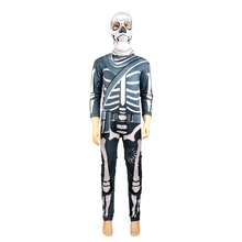 Horror Skull Trooper Costume Kids Scary Skeleton Cosplay Costumes Boys Halloween For Fancy Party Dress