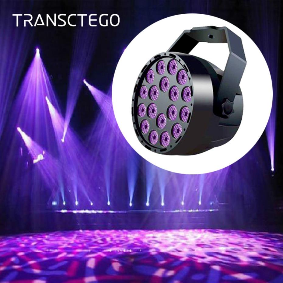 LED Disco UV Violet Stage Light DMX 512 Lighting Effect DJ Par Lamp UV Flash For Party Soundlights Christmas Laser Spot Light