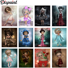 Dispaint Full Square/Round Drill 5D DIY Diamond Painting Cartoon Kimono girl 3D Embroidery Cross Stitch Home Decor Gift