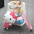 NEW CUTE HELLO KITTY LITTLE BELL KEYRING KEYCHAIN PENDANT FOR BAG CHARMS WOMAN ACCESSORIES GIRL'S GIFT