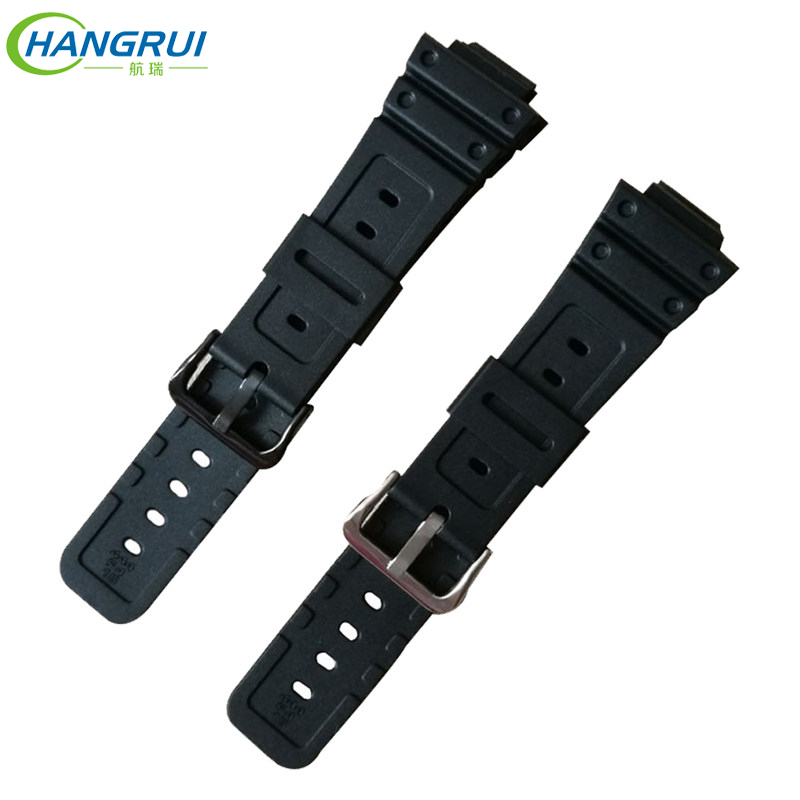 HANGRUI Silicone Rubber Watch Band Strap For G Shock GW-M5610 <font><b>DW</b></font>-5600/<font><b>5700</b></font>/6900 Replacement Watchband Stainless Steel Buckle image