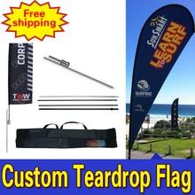 70cm*225cm Teardrop Flags Custom Double Side  Printing Teardrop Banners Flags with Spike Inground  Logo Drapeau De Plumes