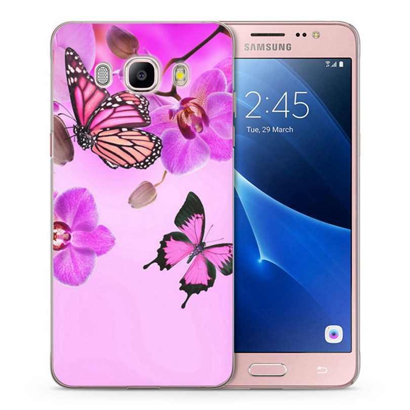 Caso Para Samsung Galaxy A3 A5 2016 2015 prime 2017 J1 J2 J3 J5 J7 G530H S8/plus Nota 8 Caso TPU Macio Flor do Céu Pintado C025