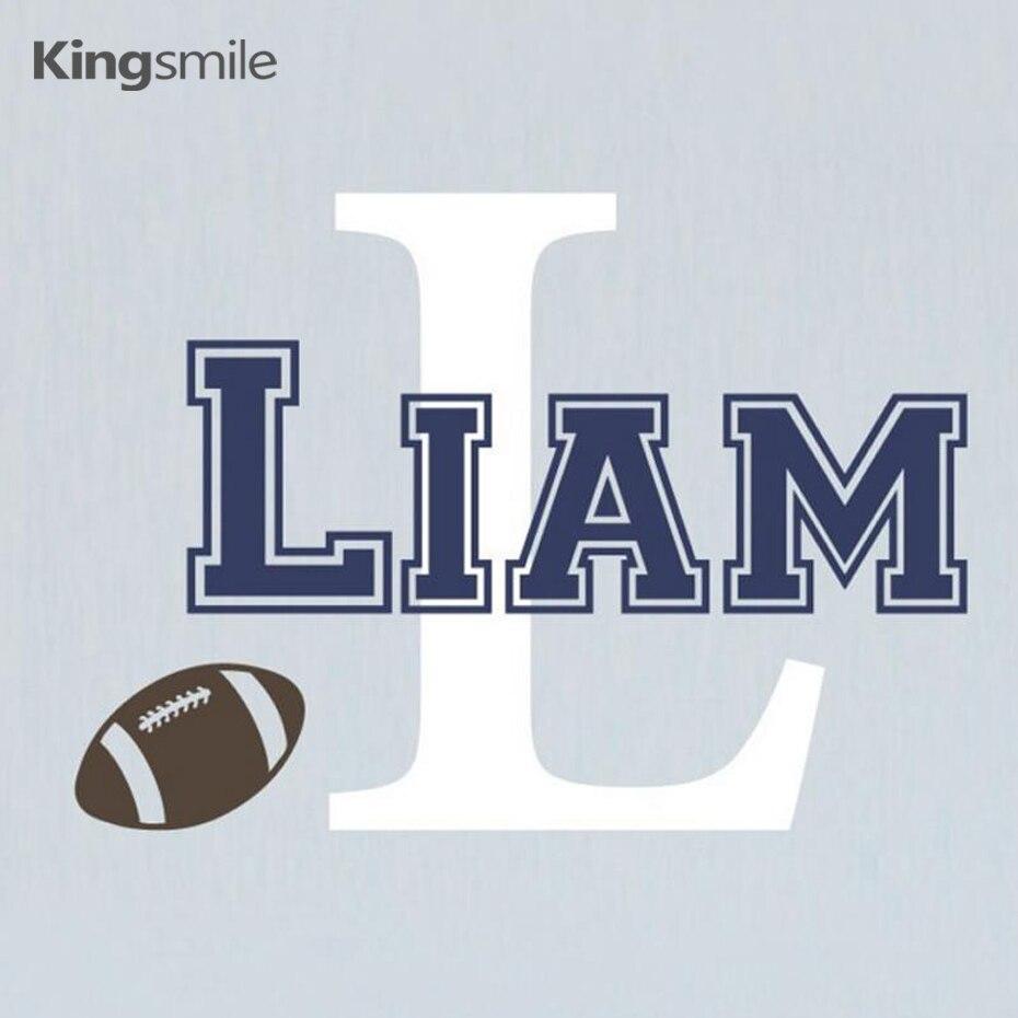 O Futebol Moderno Personalizado Nome Inicial Do Alfabeto Adesivos