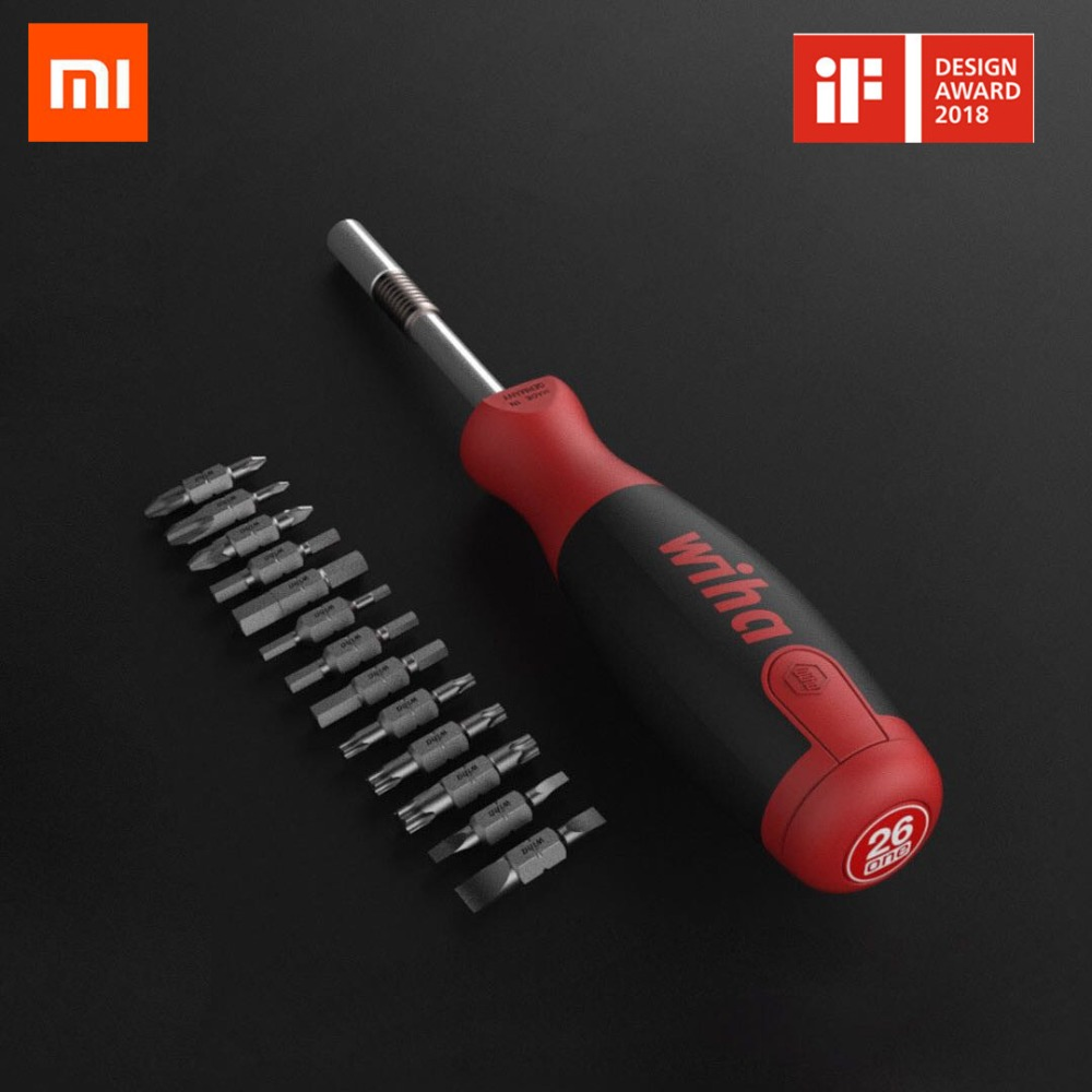 где купить Original Xiaomi MI Mijia Wiha Daily Use Screw driver Kit 26-in-1 Precision Magnetic Bits with Hidden Magazine Magic Kits Box дешево