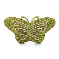 Модные Новое поступление бабочка Форма вечерняя сумочка; BS010 Стразы клатч ручной работы Diamante сумочки для вечеринок Свадебные кошельки (88203a g
