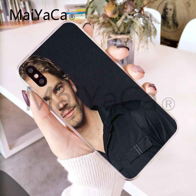 MaiYaCa بول ووكر سريع غاضب غطاء إطار هاتف محمول لابل آيفون X و 8 8plus 7 7plus 6s 6s زائد XS XR 5c غطاء الهاتف المحمول