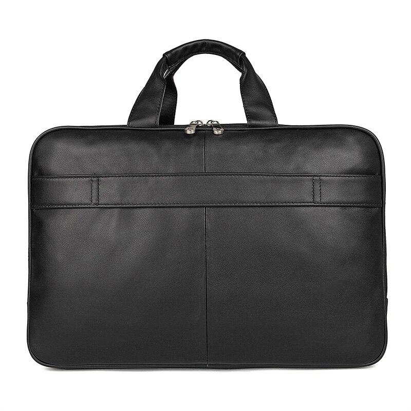 Nesitu Highend Zwart Lederen 15.6 ''Laptop Mannen Briefcase Portfolio Messenger Bag Grote Grote Zakelijke Reistas M7289-in Aktetassen van Bagage & Tassen op  Groep 3