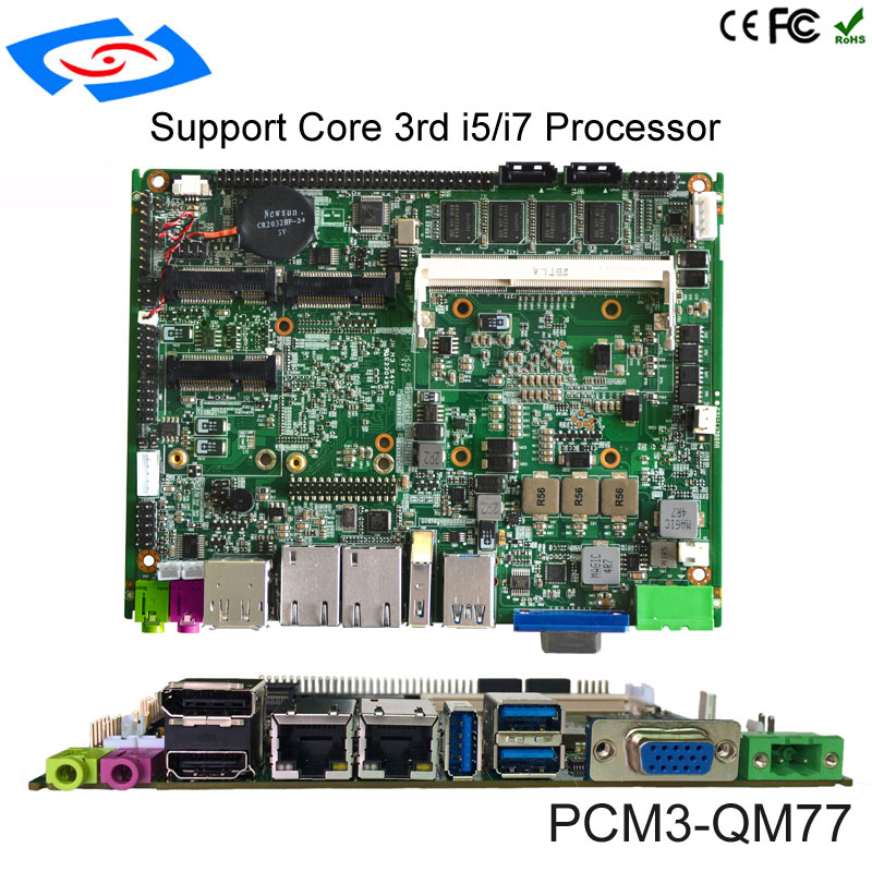 2018 Super Industrial Level Motherboard Socket Intel QM77 Motherboard With Wide Pressure Mainboard