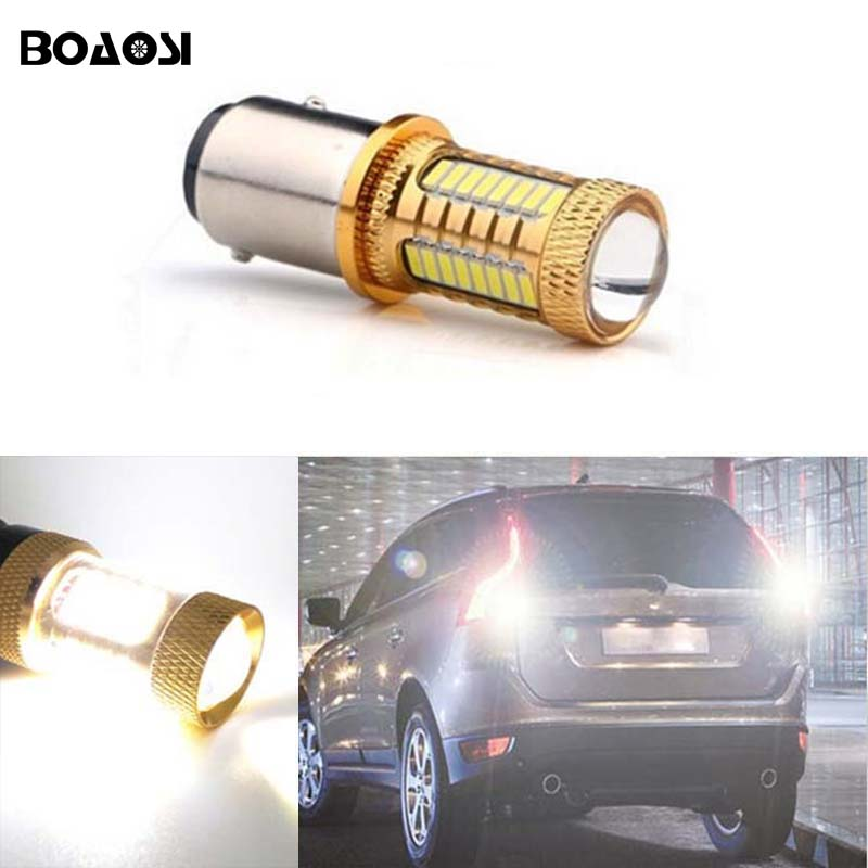 BOAOSI 1x For volvo xc90 xc60 v70 s80 s40 v60 c30 v50 Canbus no error backup reverse light lamp 1156 BA15S LED CREE Chip 2pcs 12v 31mm 36mm 39mm 41mm canbus led auto festoon light error free interior doom lamp car styling for volvo bmw audi benz