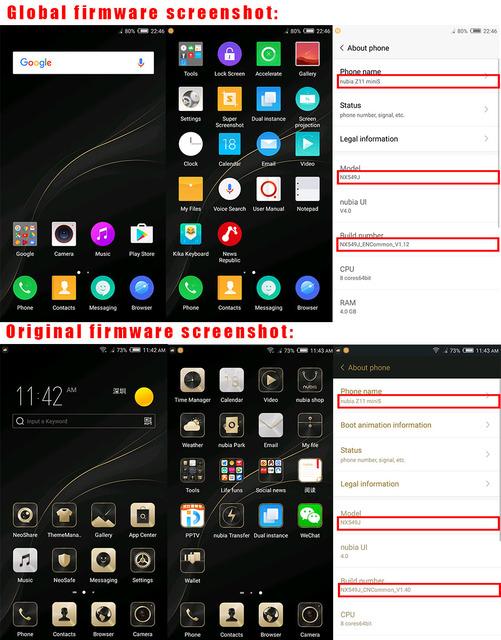 International Firmware ZTE Nubia Z11 Mini S 64GB ROM 5.2 inch Smartphone 4GB RAM Android Snapdragon 625 Octa Core 13.0MP+23.0MP