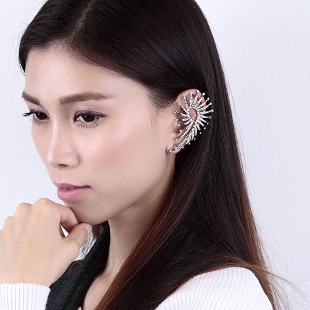 new fashion brinco brand metal ear cuff charms peacock ear