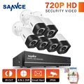SANNCE 8CH 720P HD CCTV System 4IN1 Video Recorder DVR 6PCS 1200TVL Waterproof Home Security Camera Surveillance Kit