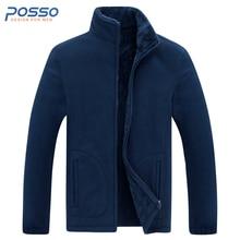 7XL plus size jacket men fleece jacket army green polar fleece men warm thermal men outerwear coat zip up hooded winter jacket