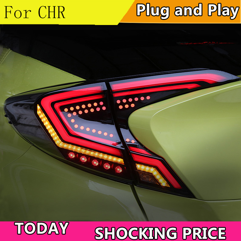 Car Styling Tail Lamp for Toyota CHR Tail Light 2018-2019 CHR LED Rear Lamp DRL Dynamic Signal Brake auto AccessoriesCar Styling Tail Lamp for Toyota CHR Tail Light 2018-2019 CHR LED Rear Lamp DRL Dynamic Signal Brake auto Accessories