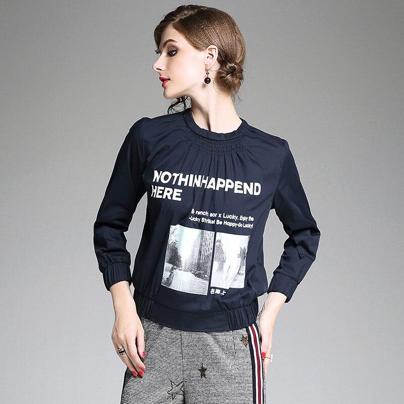 100 cotton print font b blouse b font top quality 2017 new brand runway font b