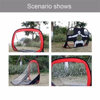 Foldable Football Gate Net Goal Gate Extra Sturdy Portable Soccer Ball Practice Gate for Children Students Soccer Training