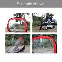 Foldable Football Gate Net Goal Gate Extra Sturdy Portable Soccer Ball Practice Gate for Children Students Soccer Training