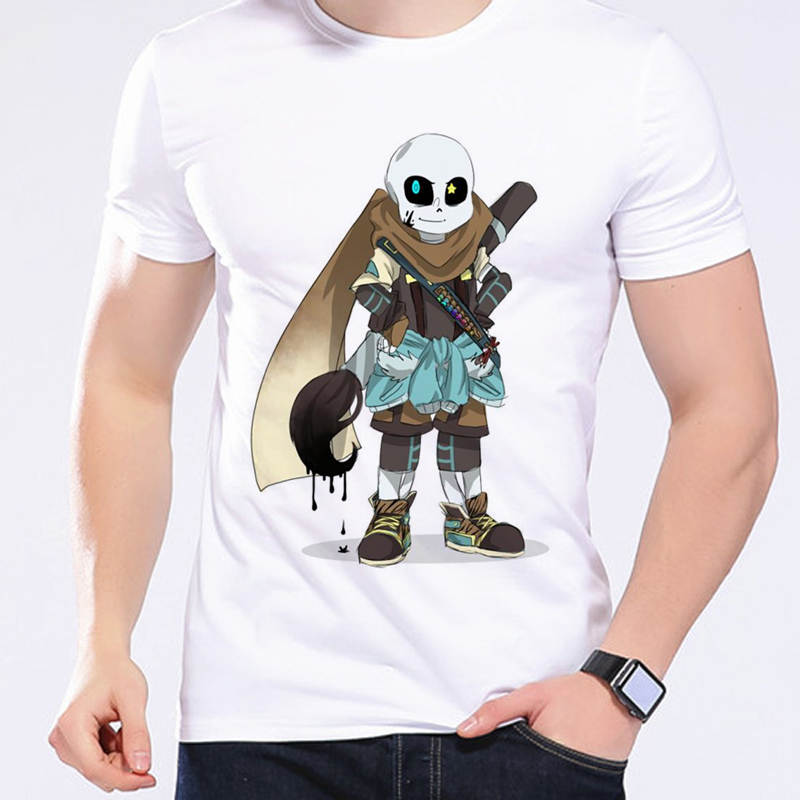 Neue Spiel Undertale Inktale Sans Und Papyrus Weiß T-shirt Skeleton Brother Zitieren Unisex Tops Fitness T-Shirts Camisetas L1-D11