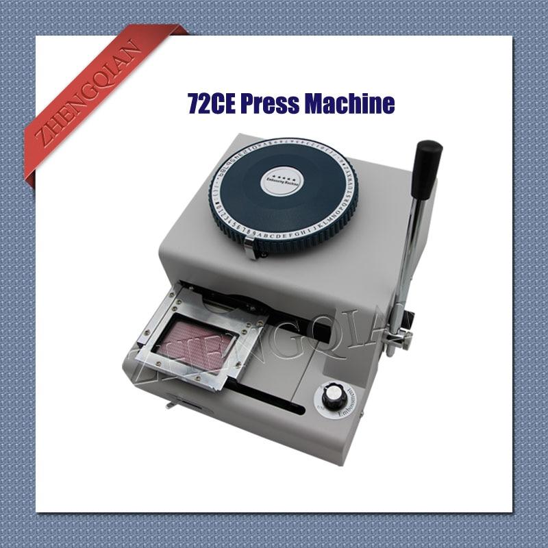 Manual Press Letterpress Id Pvc Card Press Machine 72C