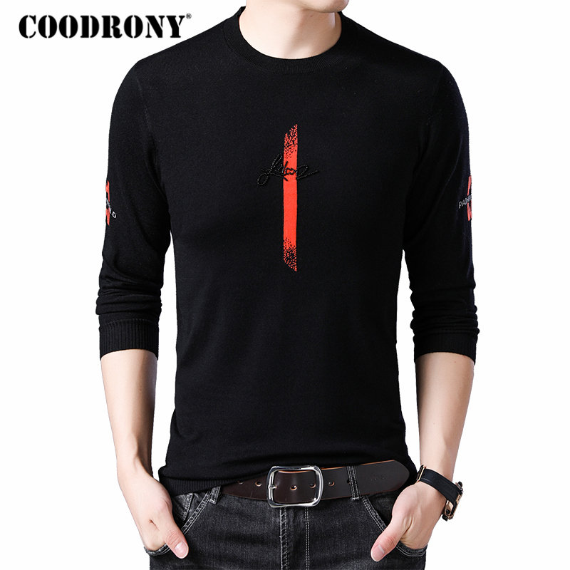 COODRONY Brand Sweater Men Streetwear Casual Pullover Men Clothes 2019 New Autumn Winter Knitwear Pull Homme Wool Sweaters 91046