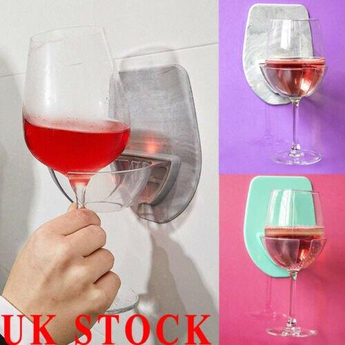 1 قطعة حمام و دش حامل لاصق المحمولة العلبة ل البيرة النبيذ علب الزجاج واضح
